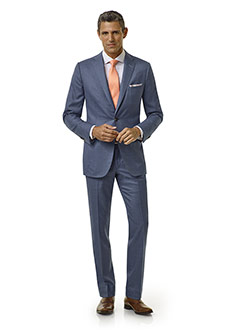 Executive Collection                                                                                                                                                                                                                                      , Blue Sharkskin Suit - Executive Collection